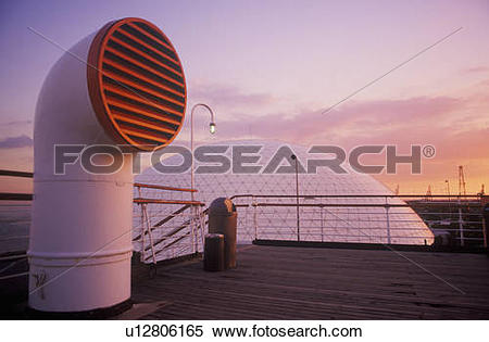 Stock Image of A vent pipe of cruise ship u12806165.