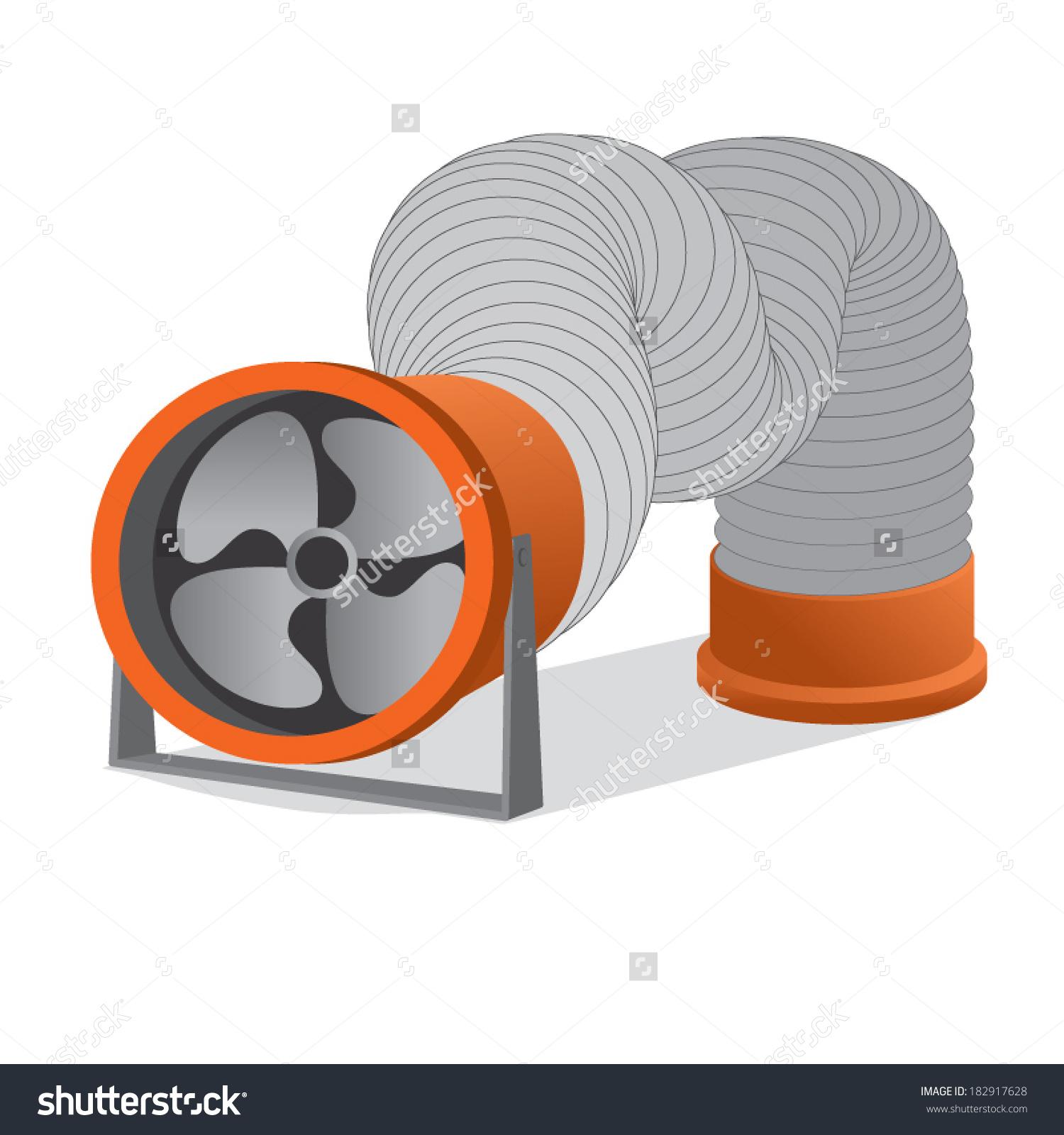 Ventilation Pipe Vector.