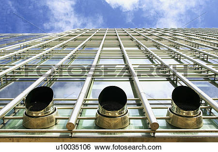 Stock Images of Exhaust ventilation pipes sticking out from the.
