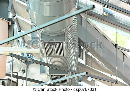Stock Photography of Ventilation pipes of air condition csp6767831.