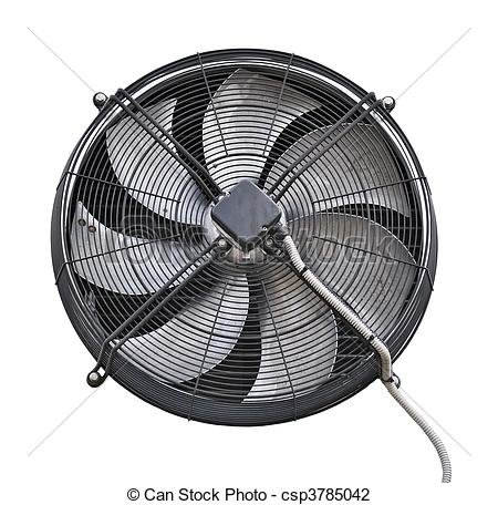 Clip Art of Industrial fan over white csp3785042.