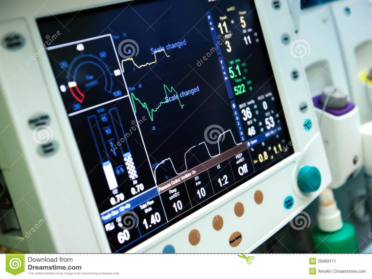 Mechanical Ventilator Screen info.