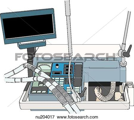 Stock Illustration of Illustration of ventilation system with.