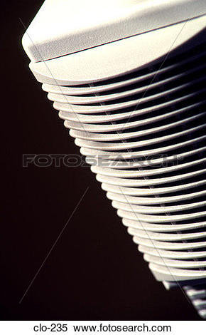 Stock Image of Angled Photograph of Ventilation Slots on PC clo.