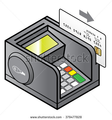 Bench Top Point Sale Pin Pad Stock Vector 299757776.
