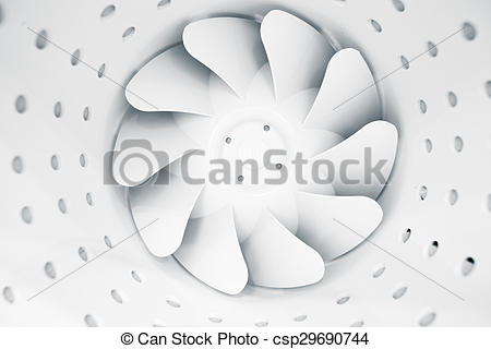 Drawing of fan blades of modern ventilation system csp29690744.