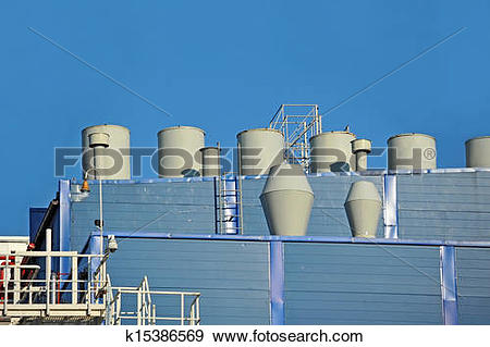 Stock Photograph of Industrial ventilation system k15386569.