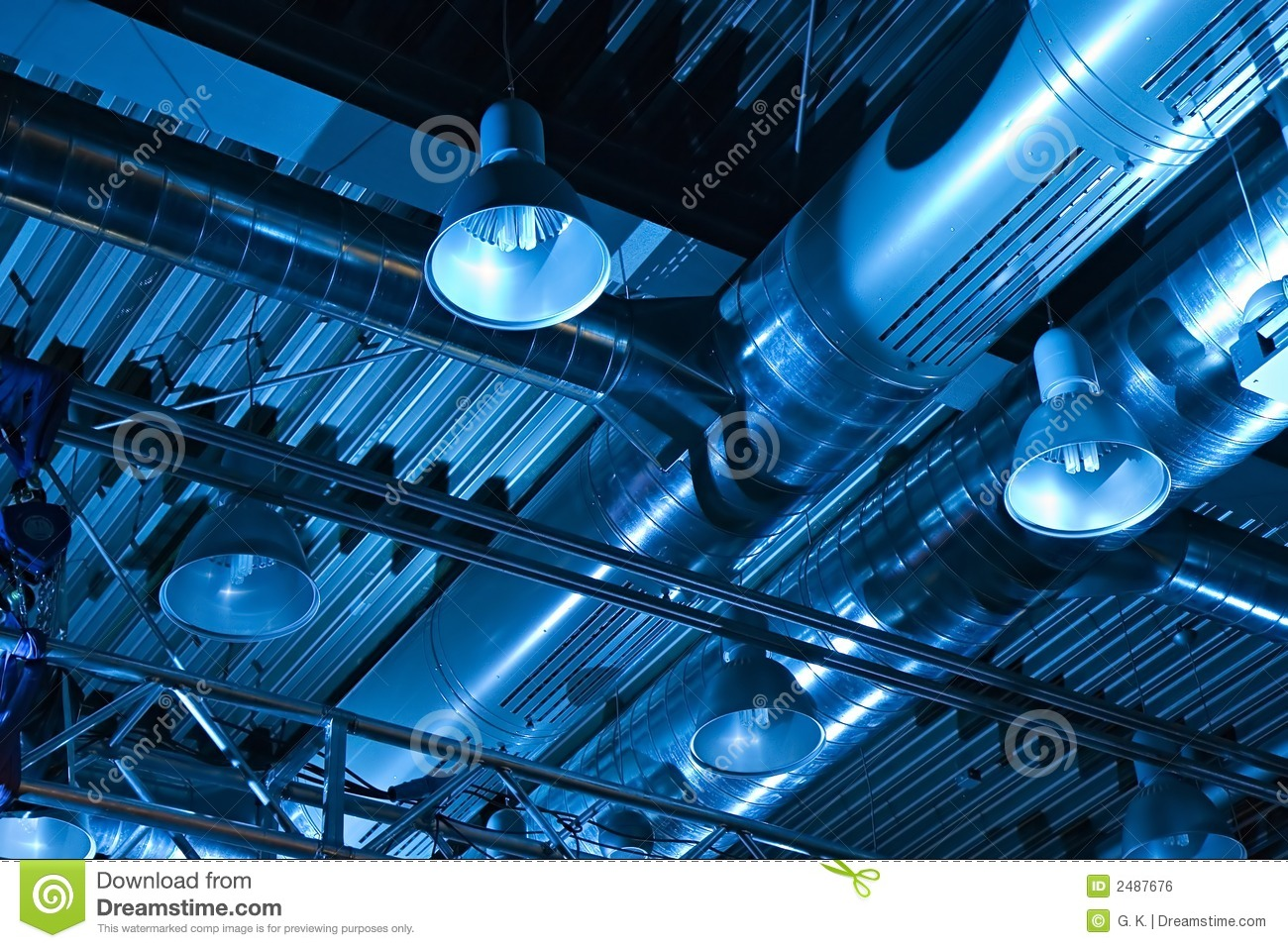 Ventilation System Royalty Free Stock Image.