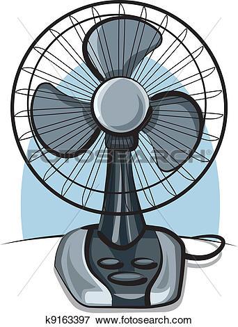 Clip Art of table fan ventilator k9163397.