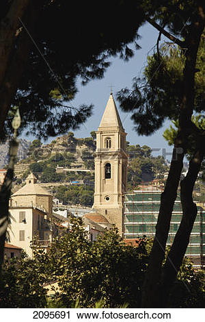 Stock Photography of A Bell Tower Of A Church; Ventimiglia Italy.