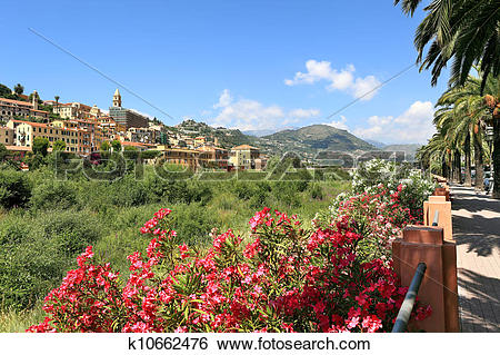 Stock Images of Town of Ventimiglia. Italy. k10662476.
