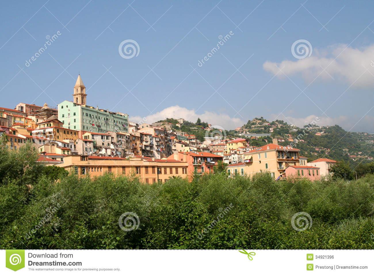 Ventimiglia Alta. Royalty Free Stock Image.