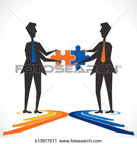 Clipart of join venture k13917511.