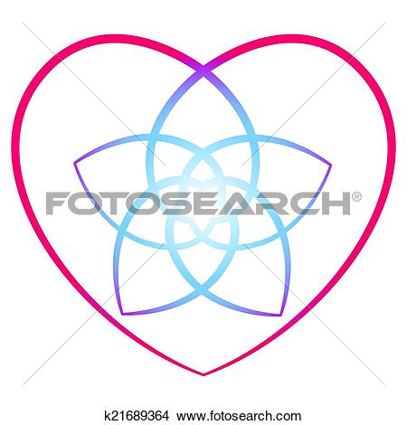 Clipart of Flower of the Venus Heart k21689364.