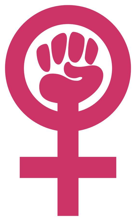 Symbol of feminism based on Venus symbol.