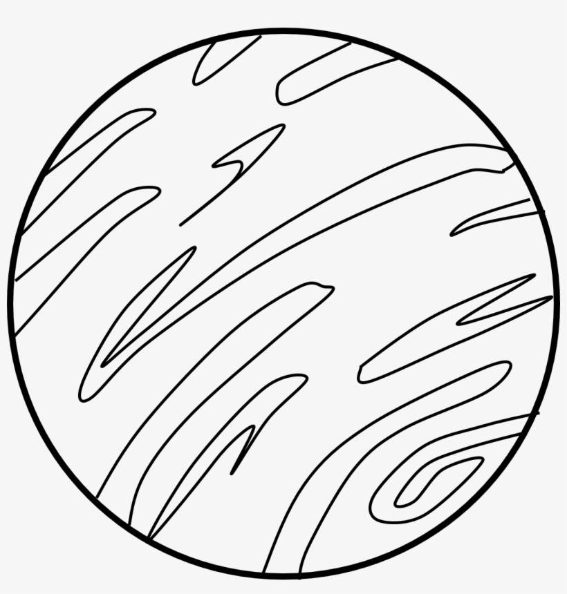 Clip Art Library Collection Of Jupiter Drawing Black.