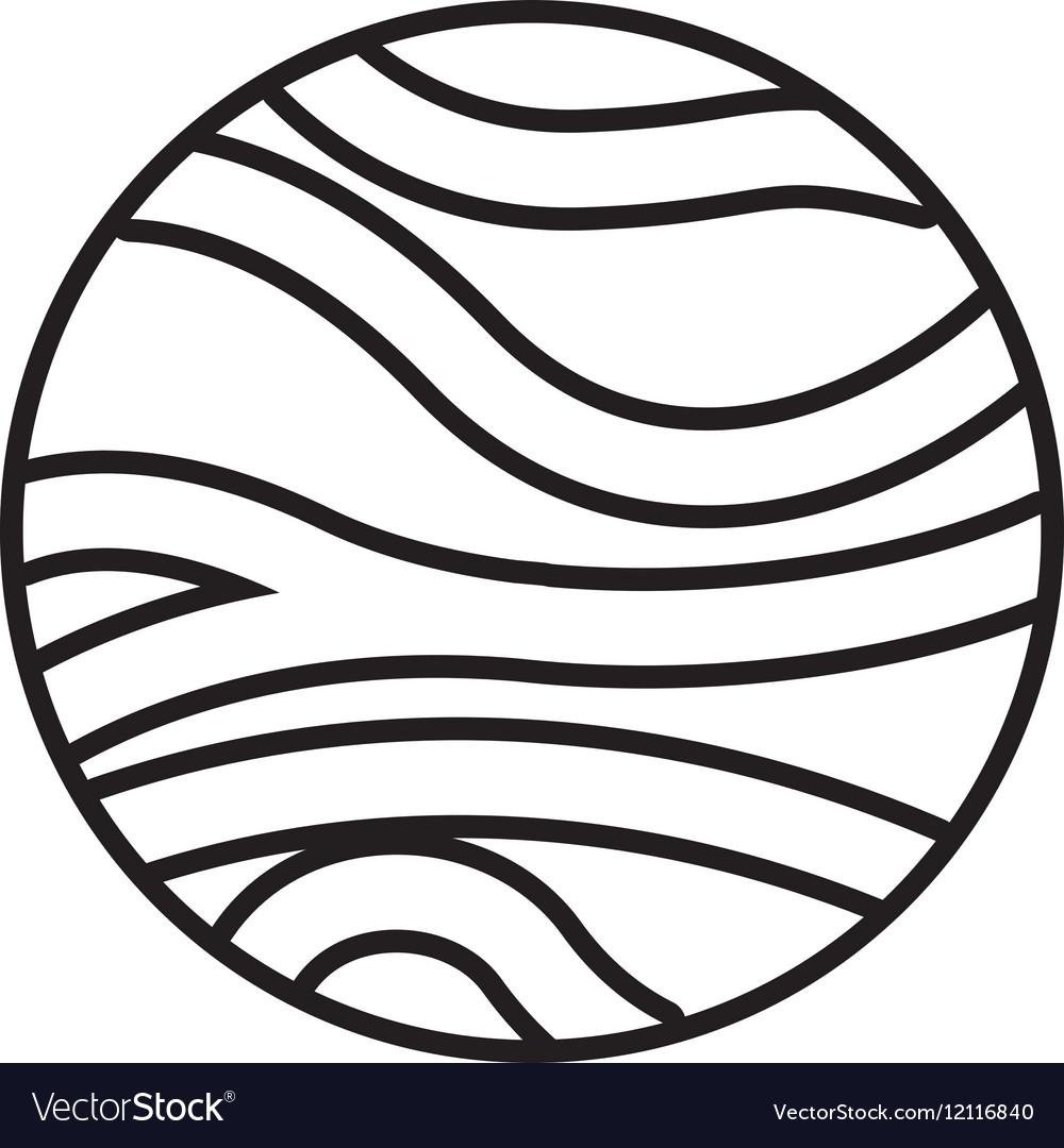 Venus planet isolated icon.