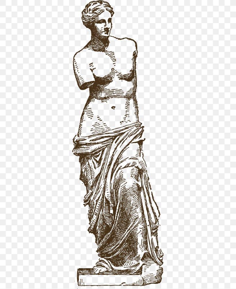 Venus De Milo Statue Marble Sculpture Clip Art, PNG.