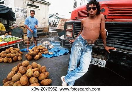 Stock Photo of fruit, mercado ver o peso, belem, state of para.