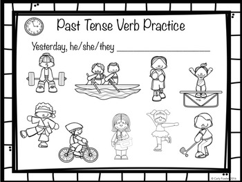 Let\'s Take Action: Present and Past Tense Verb Cards.