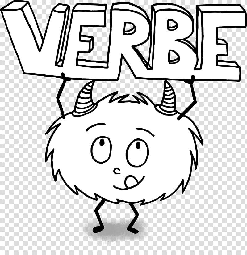 Drawing White, Verb, Grammatical Conjugation, Cartoon, Line.