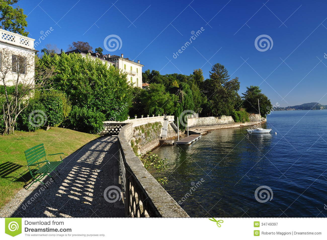 Verbania Pallanza, Lake Maggiore, Italy Royalty Free Stock Images.