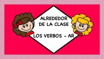 Task Cards: Alrededor De La Clase Con Los Verbos.