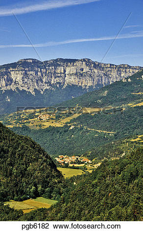 Stock Photo of France. Diois, Drome. Les Nonnieres. High Vercors.