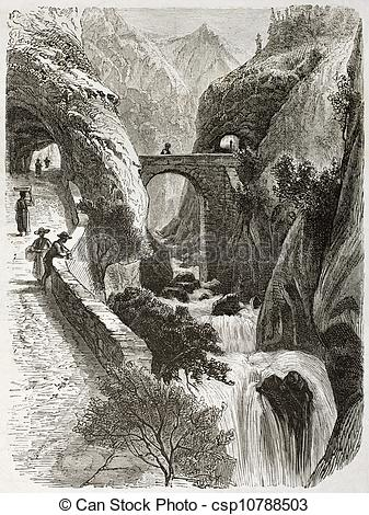 Stock Illustration of Vercors Grand Goulets.