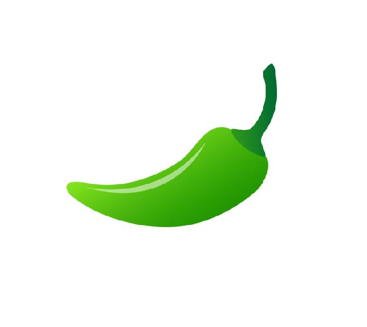 Chile verde clipart.