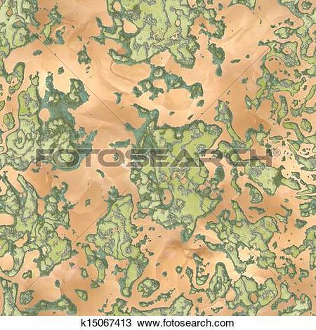 Drawing of Verdigris. Seamless texture. k15067413.