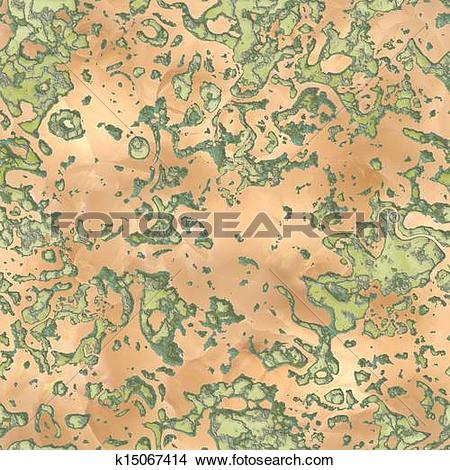 Drawings of Verdigris. Seamless texture. k15067414.