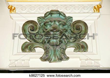 Stock Image of Verdigris lion k8627125.