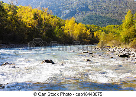 Picture of valley of river Verdon in autumn, Provence, France.