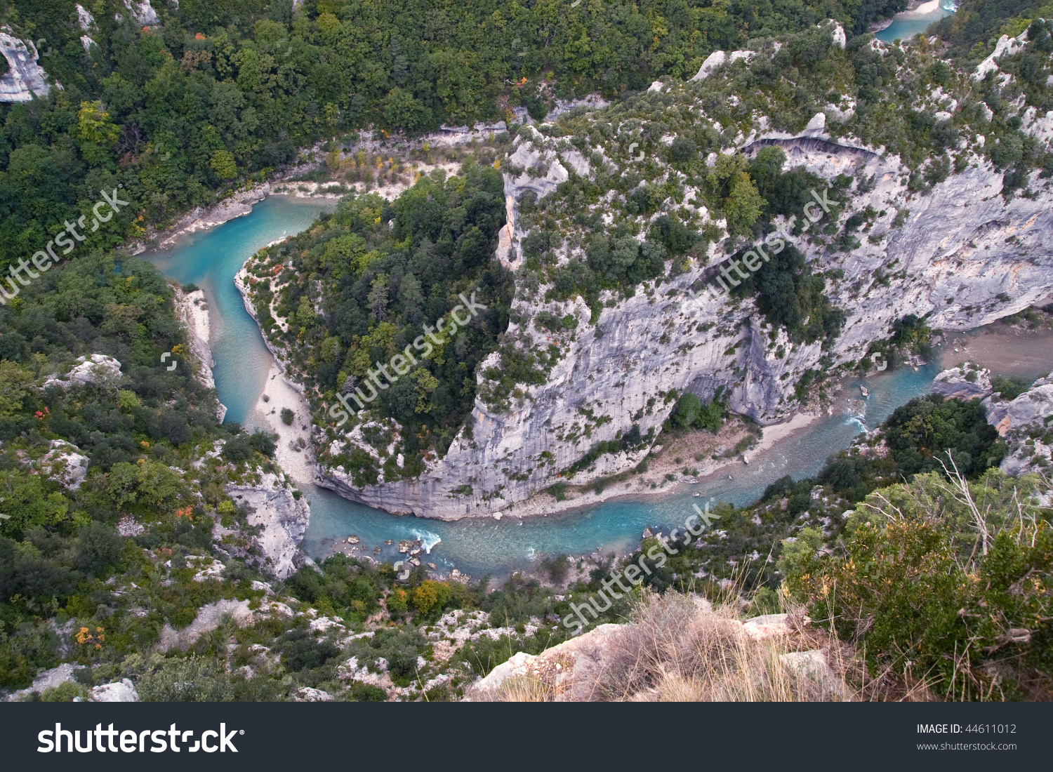 View To Verdon River (Grand Canyon In France) Stock Photo 44611012.