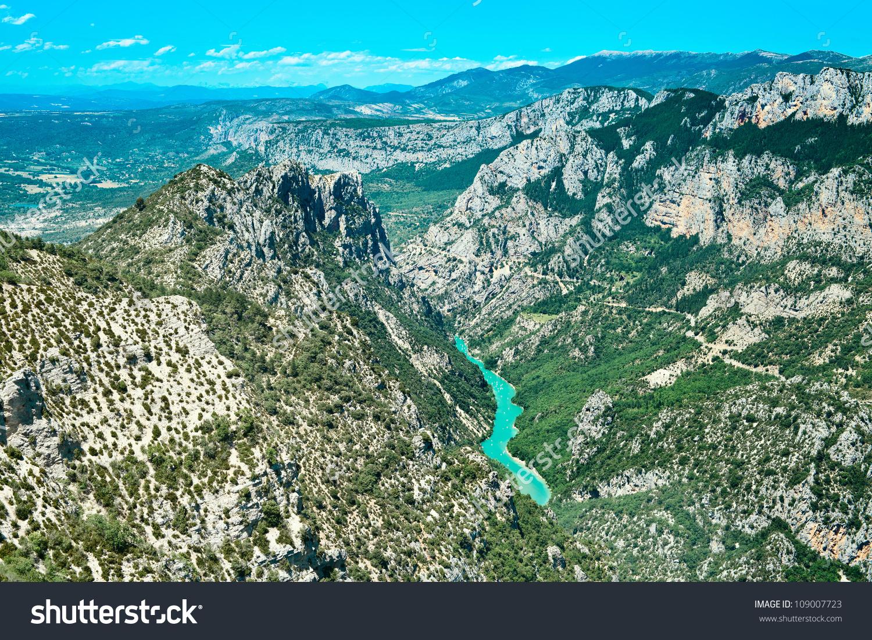 Gorges Du Verdon European Canyon River Stock Photo 109007723.