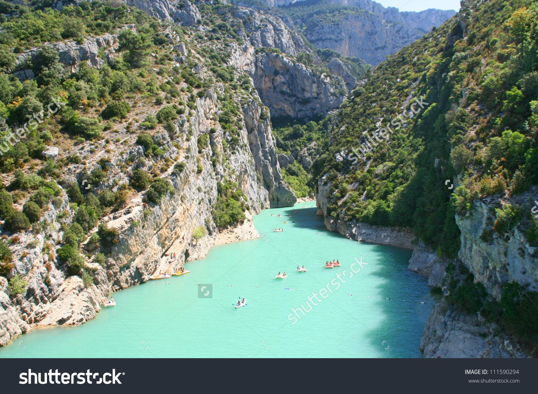 Gorges Du Verdon European Canyon River Stock Photo 111590294.