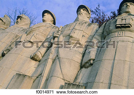 Stock Photography of France, Lorraine, Verdun, WWI memorial.