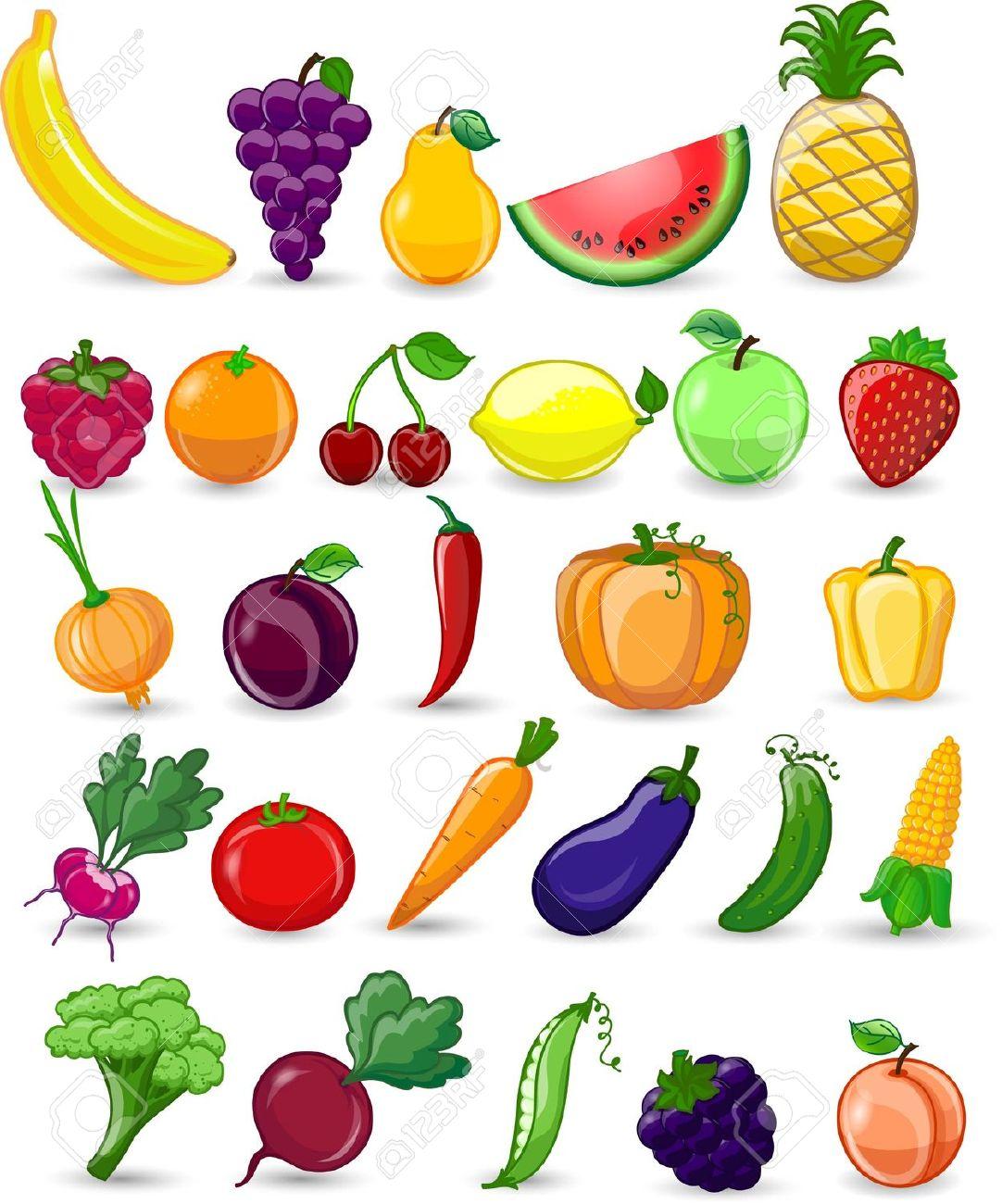 Frutta e verdura clipart.