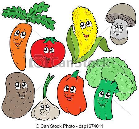 Clipart di verdura, 1, cartone animato, collezione.
