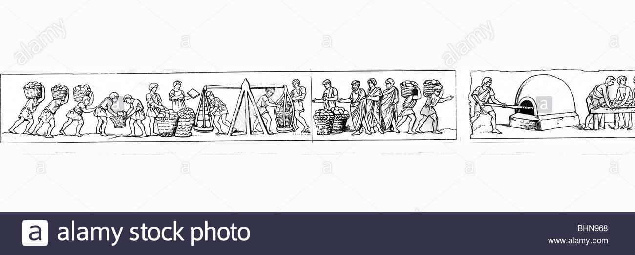 Ancient World, Roman Empire, Craft / Handcraft, Bakery, Drawing.