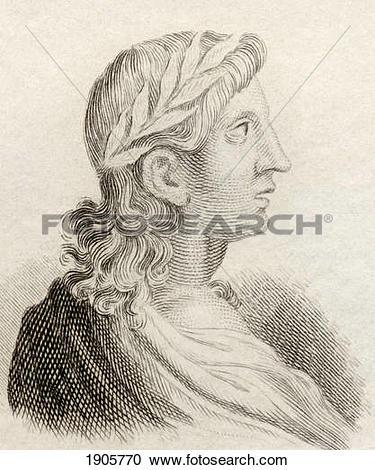 Stock Photography of Publius Vergilius Maro, 70 Bc To 19 Bc.
