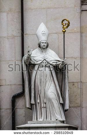 St Vergilius Salzburg Catholic Bishop Statue Stock Photo 44135572.