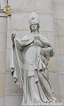 St. Vergilius Statue At Salzburg Cathedral, Austria Royalty Free.