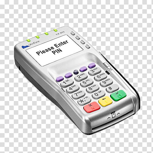 PIN pad VeriFone Holdings, Inc. EMV Contactless payment Card.