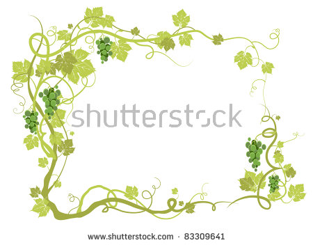 Grape Vine Border Stock Photos, Royalty.