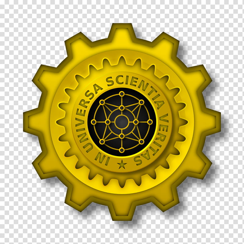 In Universa Scientia Veritas transparent background PNG.
