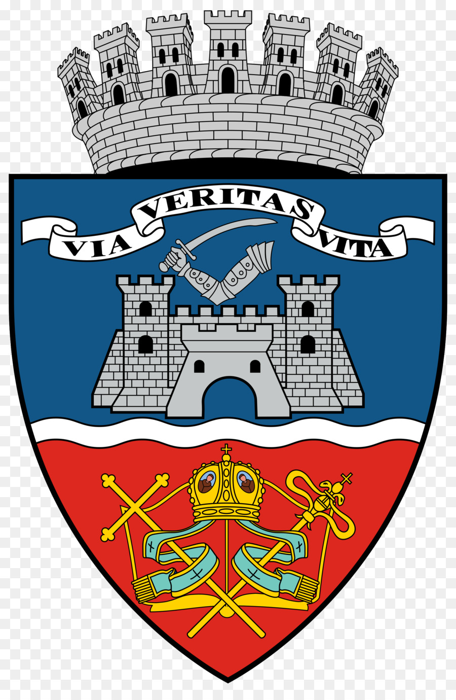 Coat of arms Arad City Hall Via et veritas et vita Wikipedia.