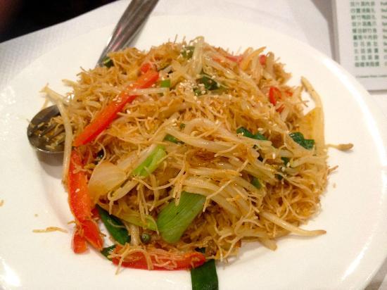 Mix Vegetable Singapore Vermicelli Noodles.
