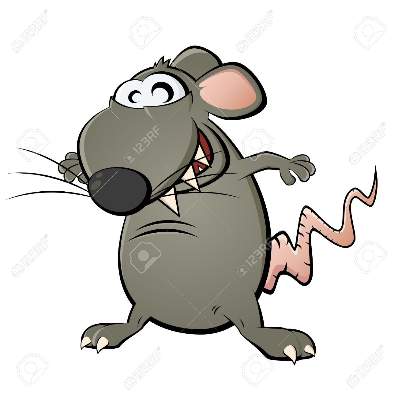 Funny Cartoon Rat Royalty Free Cliparts, Vectors, And Stock.